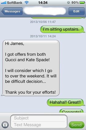 2 Job Offers: Gucci + Kate Spade